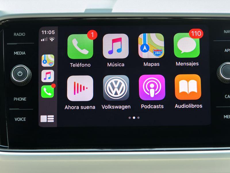 Radio con pantalla de Nuevo T-Cross de Volkswagen