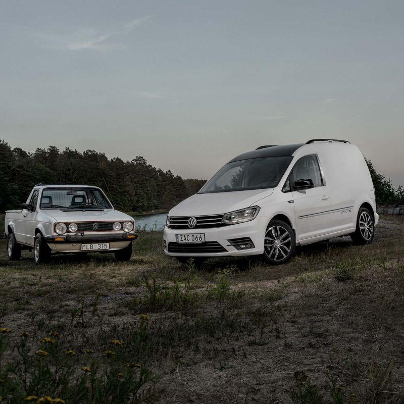 Volkswagen Caddy Edition 35 med gammal Caddy