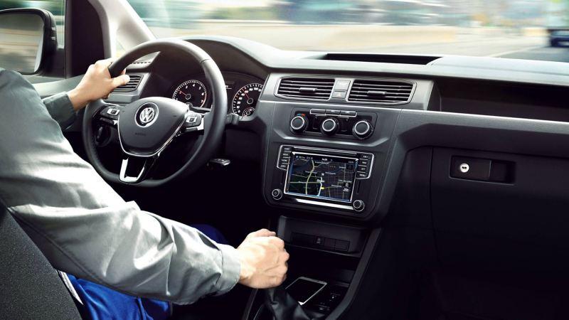 Volkswagen Caddy actie navigatie