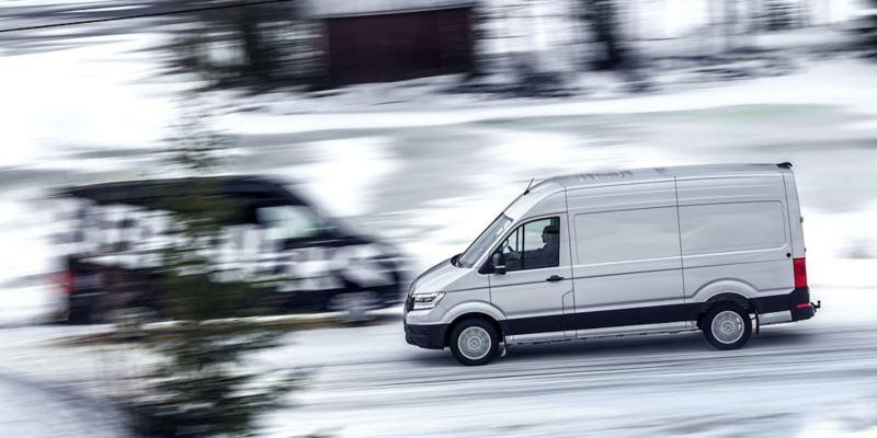 Volkswagen Crafter möte i snö