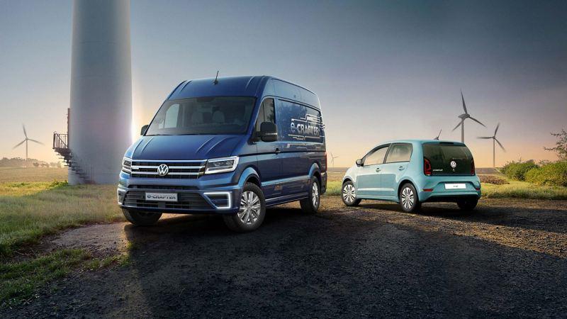Volkswagen e-Crafter och e-load up! elbilar