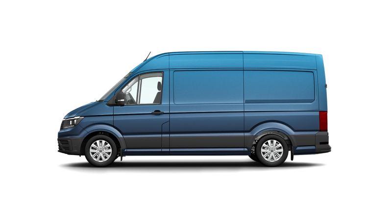 Volkswagen e-Crafter elbil lätt lastbil i profil