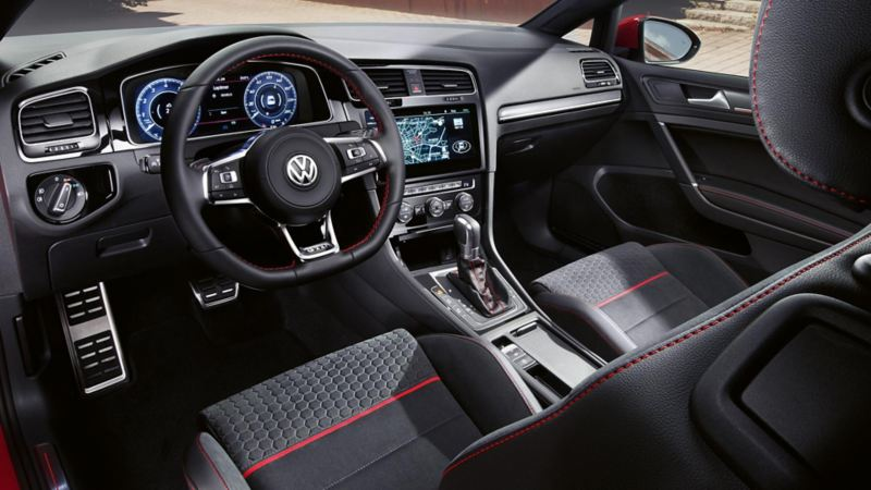 The new Volkswagen Golf GTI interior overview.