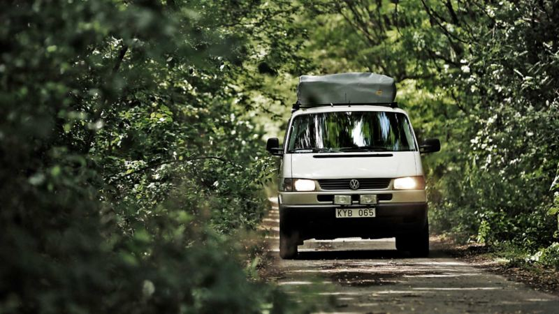 Volkswagen Caravelle på väg i Tjernobyl