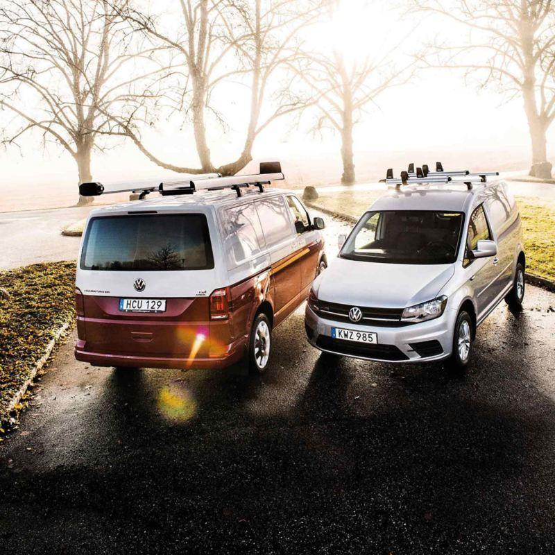Caddy och Transporter med transportlösningar från VW Original