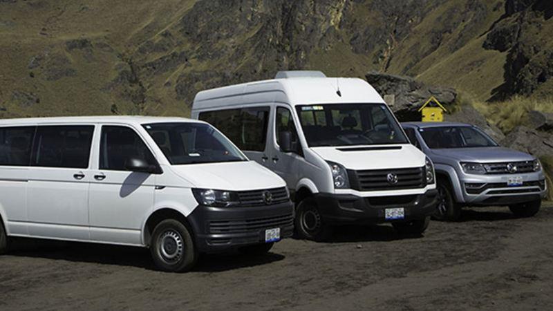 Vehículos comerciales Volkswagen en el evento de Cumbre Itza