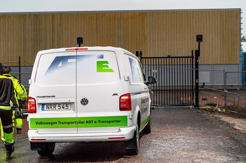 Volkswagen transportbilar ABT e-Transporter bakifrån