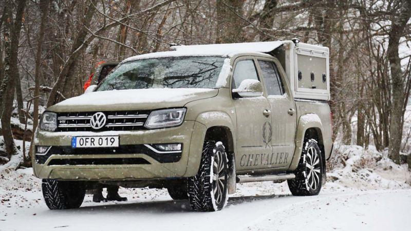 Ombyggd Volkswagen Amarok för jägare