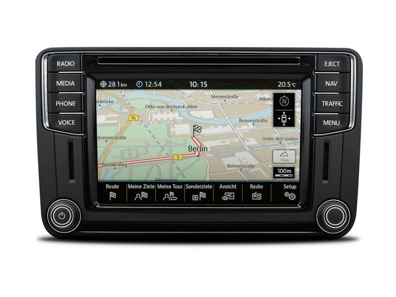 Anzeige des Navigationssystems