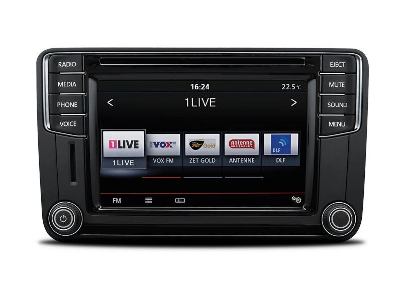 Um Sistema de Rádio da Volkswagen.