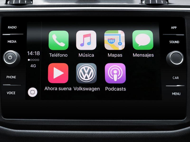 """Sistema multimedia con pantalla con táctil a color de 8"""" del SUV Tiguan 2020 de Volkswagen"""