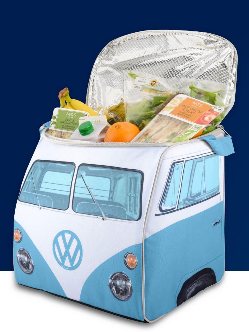 Eine Kühltasche im Bulli Design.