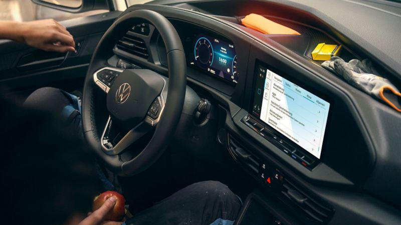 Interiör på VW Caddy 5