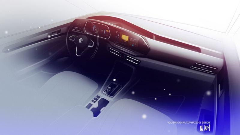 Caddy 5ta Generación tablero interior