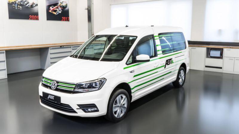 Volkswagen Caddy ombyggd till eldrift av ABT