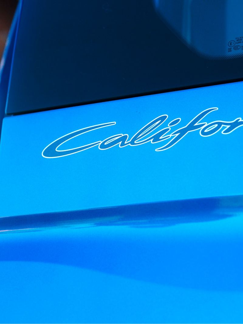Close-up of the California lettering.
