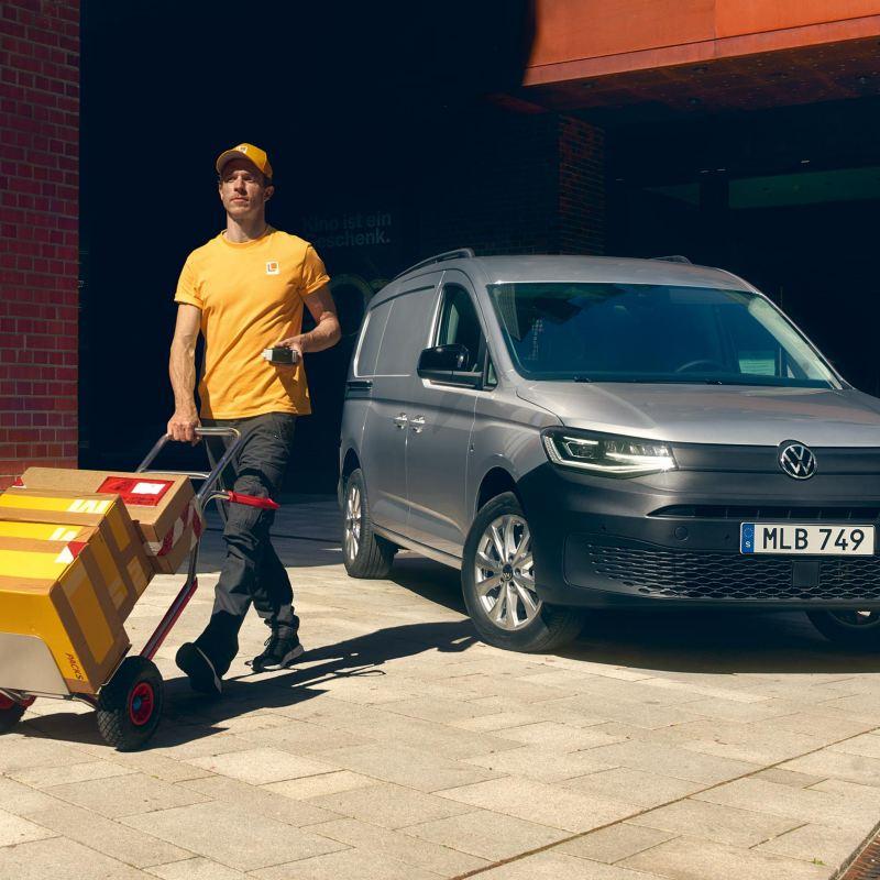 VW Caddy Cargo som budbil