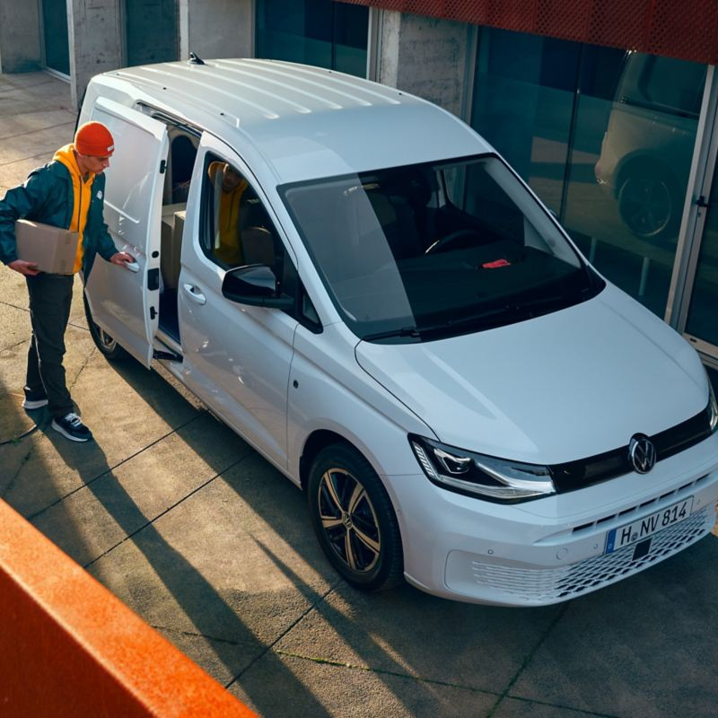 The new Volkswagen Caddy Cargo as a delivery van.