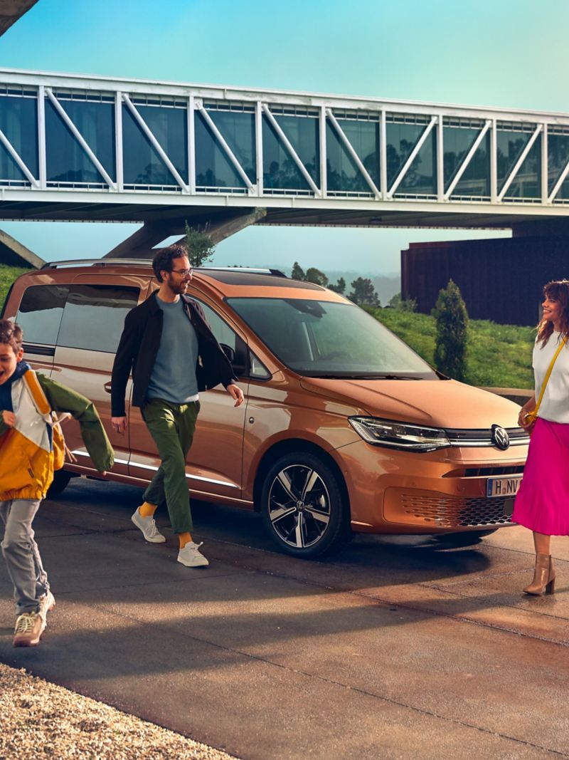 The new Volkswagen Caddy as a family car.