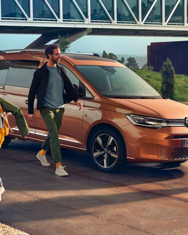 Il nuovo Volkswagen Caddy come auto familiare.