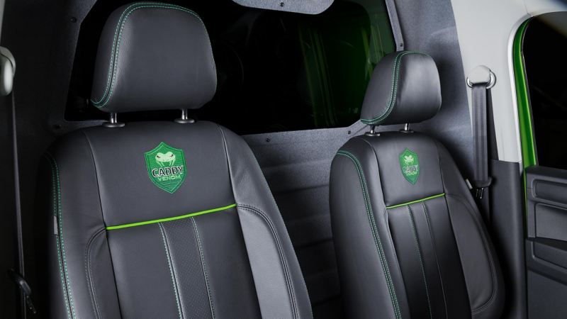 Interiören i VW Caddy Venom Edition