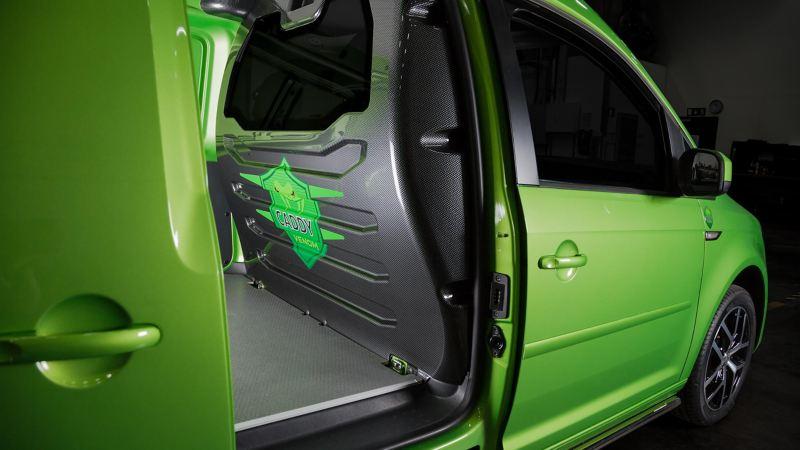 Lastutrymme i VW Caddy Venom Edition