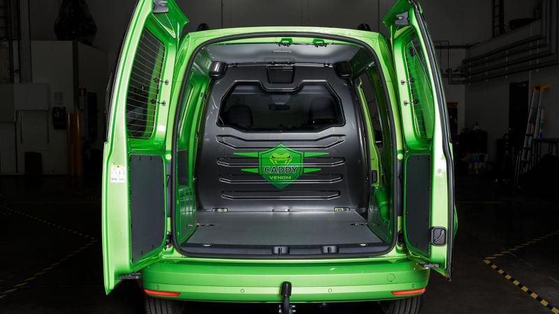 Lastutrymmet i VW Caddy Venom Edition