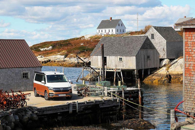 Nya Volkswagen California 6.1 i en fiskeby i Nova Scotia