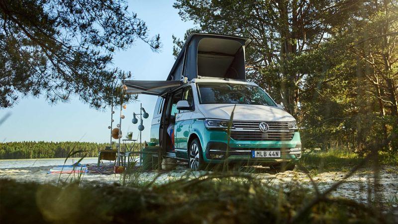 VW California 6.1 på en strand