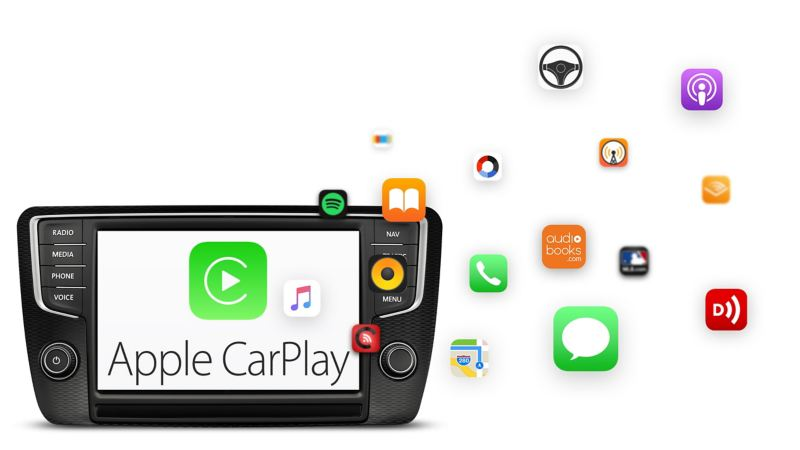 Sistema Apple CarPlay para a Volkswagen Veículos Comerciais