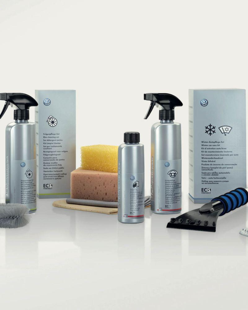 Produkty do czyszczenia i pielęgnacji marki Volkswagen.