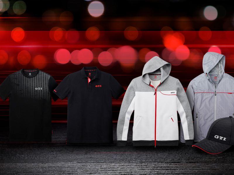 Prendas de ropa parte de la colección GTI de Volkswagen México