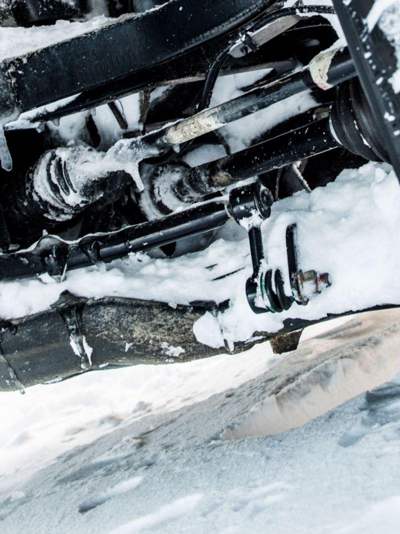 Utrustningsdetaljer, VW Crafter, hjulupphängning