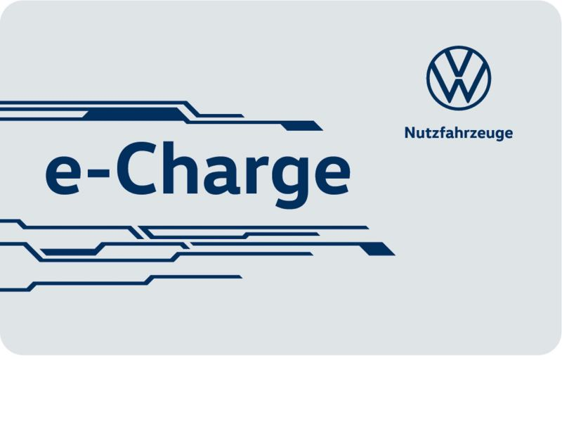 Die e-Charge Card in einer Nahaufnahme.