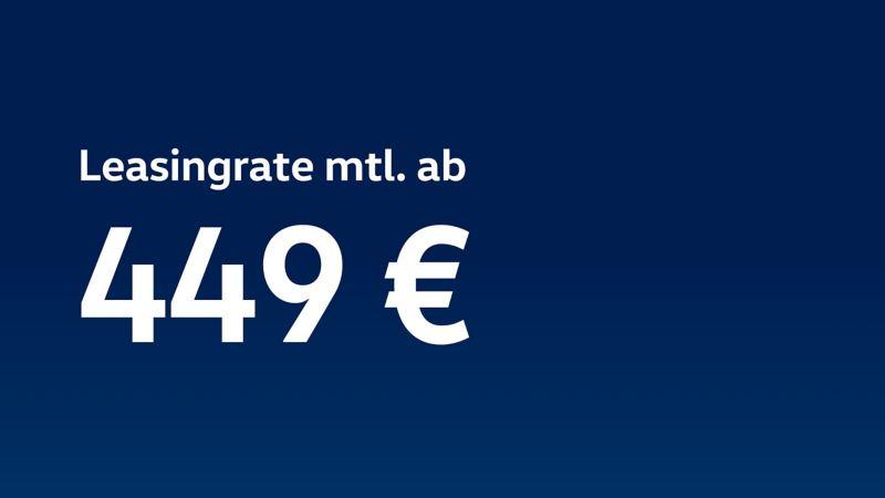 Den Volkswagen e-Crafter jetzt ab 449 € monatlich leasen.