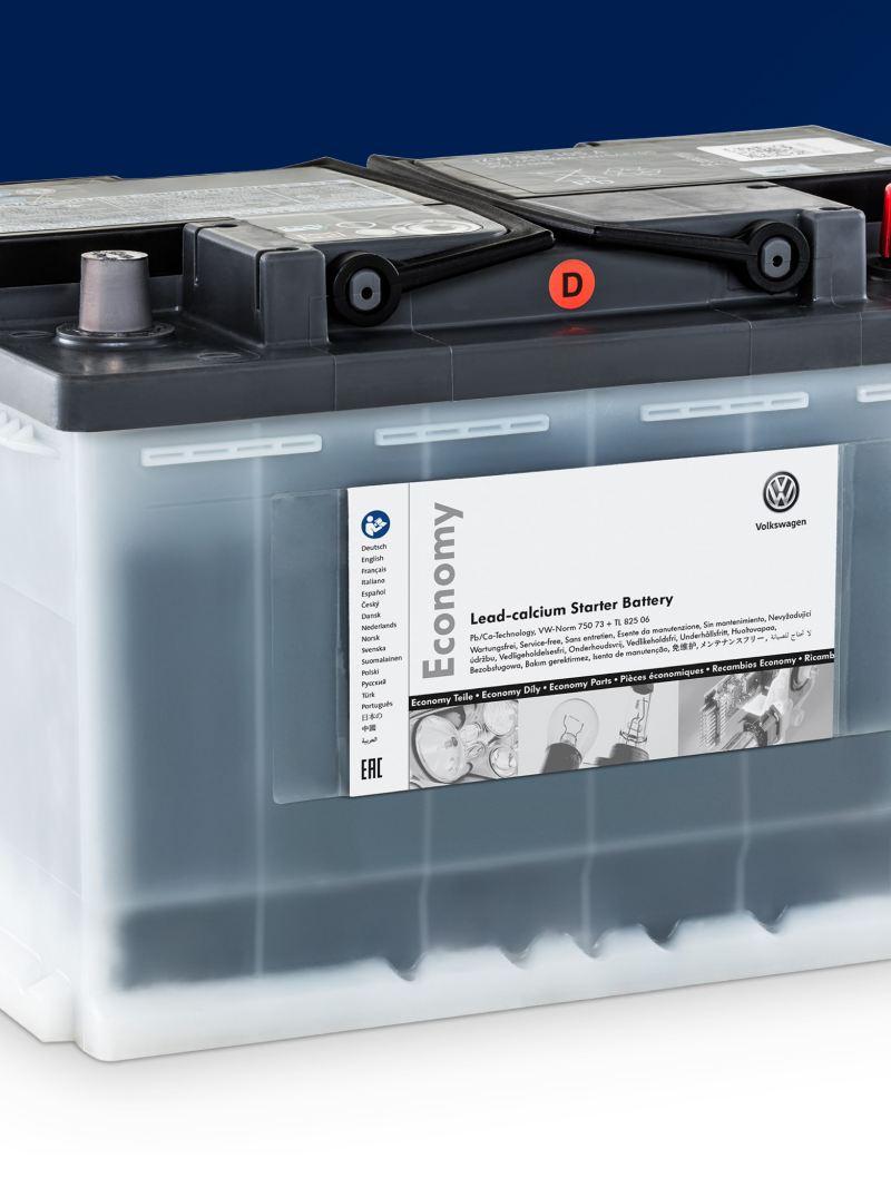 Eine Volkswagen Economy Starterbatterie.
