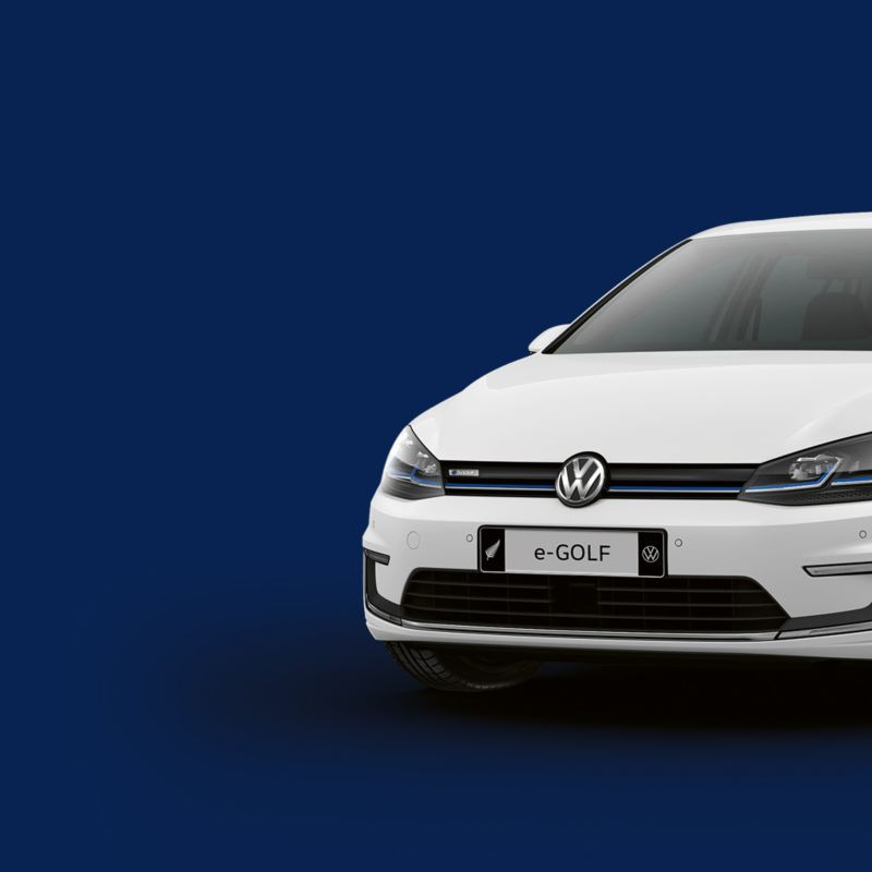 e-Golf image with blue background