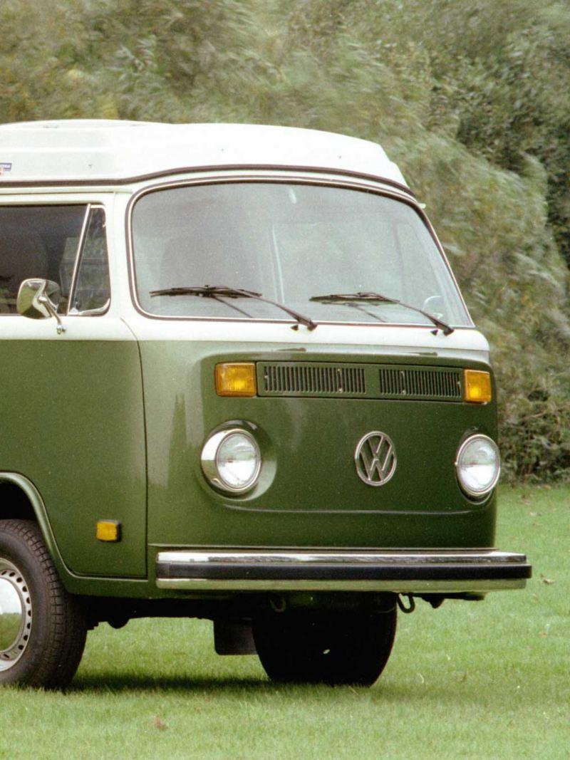 Volkswagen Folkabuss T2 grön och vit