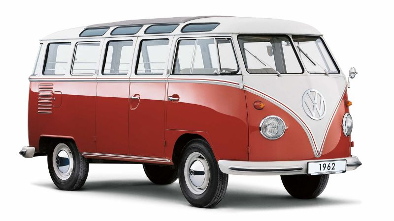 Volkswagen Folkabuss röd och vit