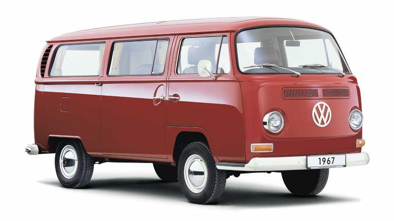 Volkswagen Folkabuss T2 röd
