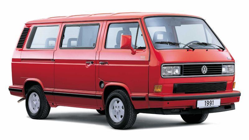Volkswagen Folkabuss T3 röd