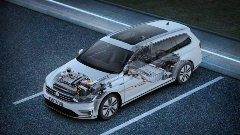 coupe 3d d'une passat GTE, vu du dispositif électrique
