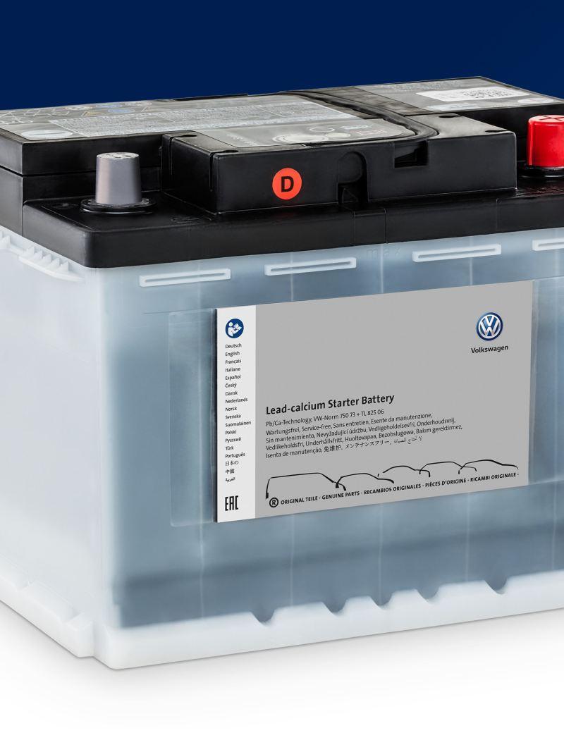 Eine Volkswagen Starterbatterie.