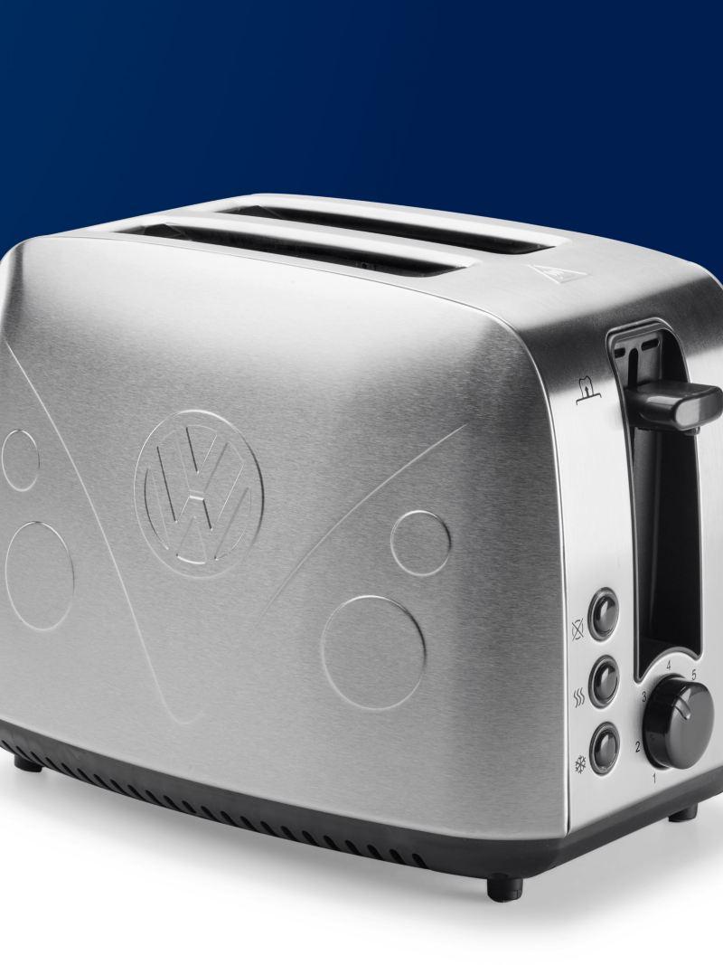 Ein Toaster im Volkswagen T1 Design.