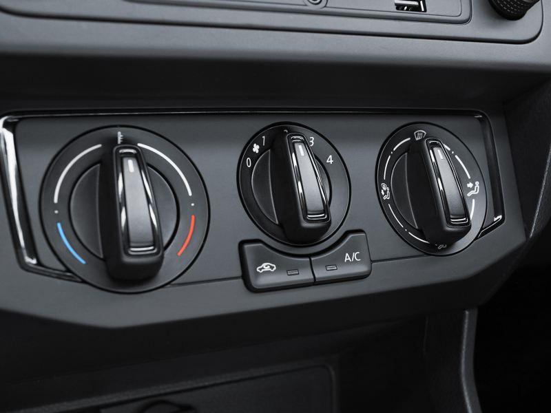 Perillas de ajuste del aire acondicionado de Nuevo Gol de Volkswagen