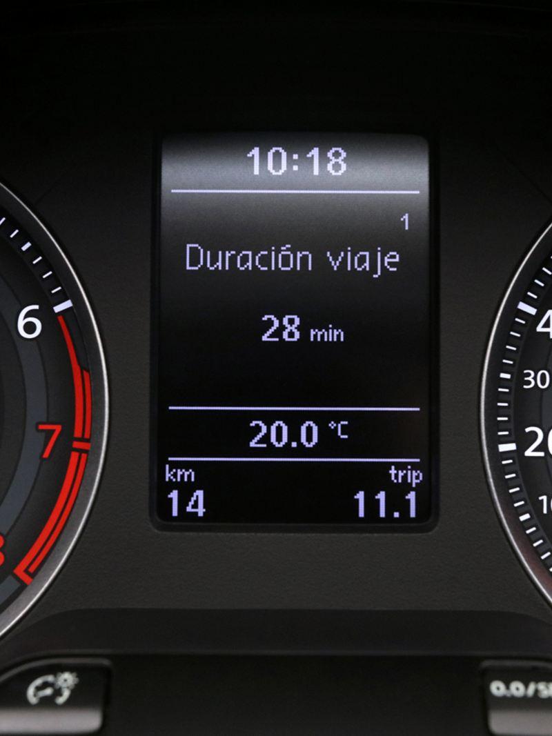 Computadora de viaje indicando la duración de viaje de Nuevo Gol de Volkswagen