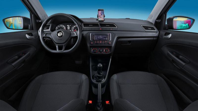 Vista panorámica interior Gol de Volkswagen