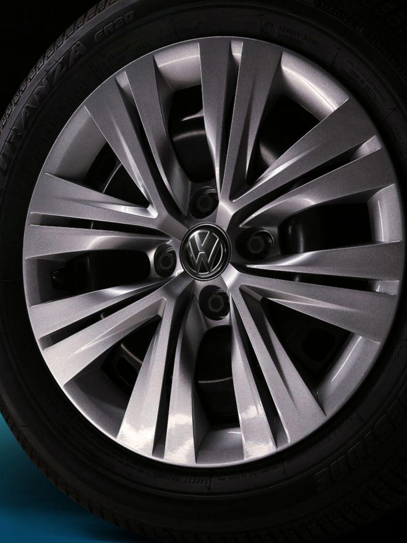 Detalle del rin de 15'' de Nuevo Gol de Volkswagen