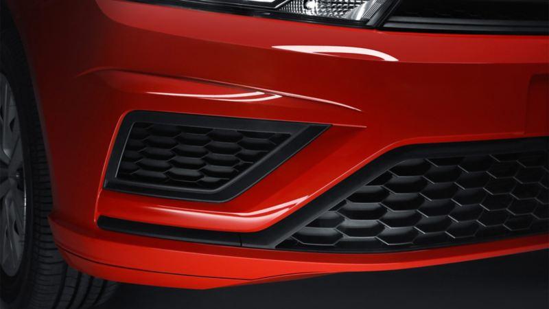 Detalle de la parrilla de Gol de Volkswagen