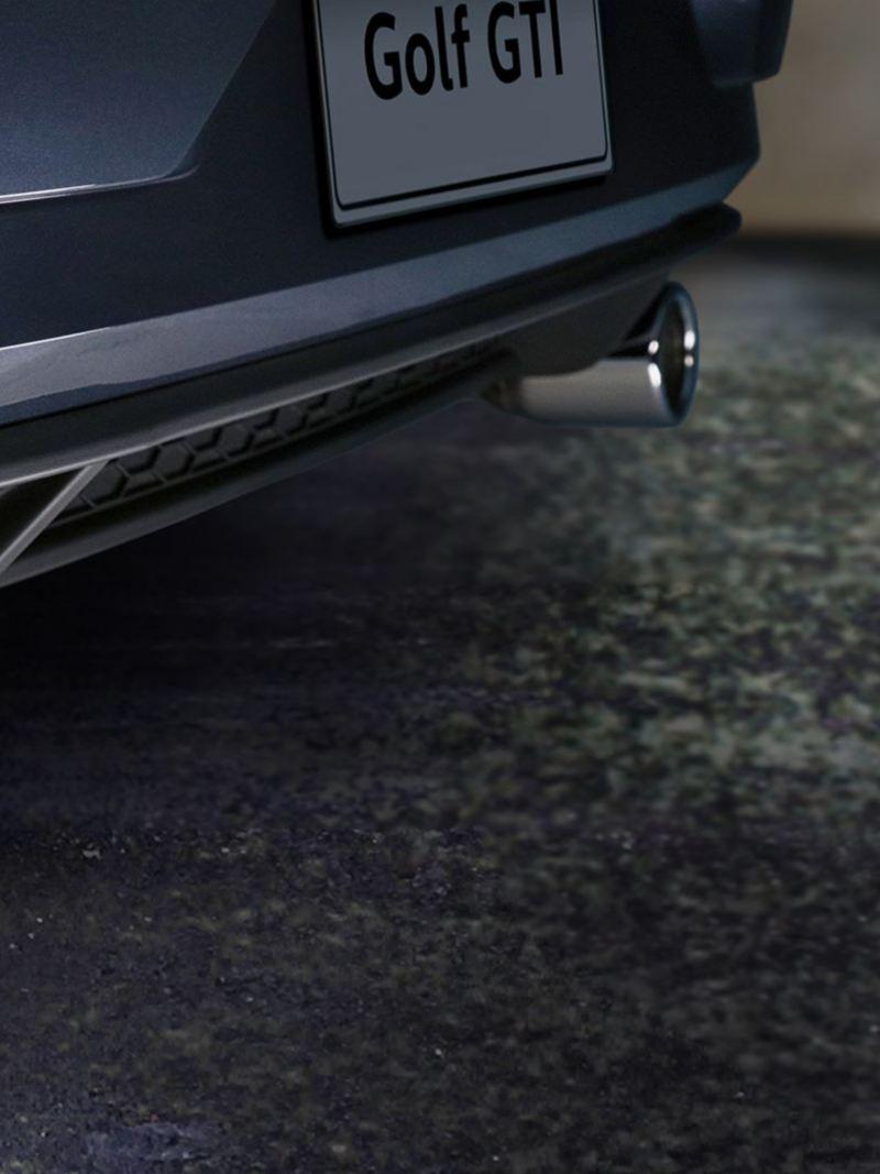 Escape cromado con doble salida en el nuevo Golf GTI 2020 de Volkswagen